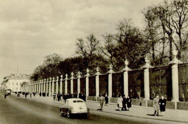 Летний сад дворцовая наб фото 1953 г