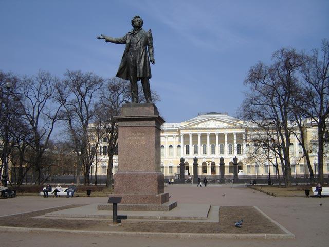 Памятник пушкину в санкт петербурге