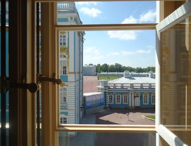 Царскосельский Лицей.Вид из окна на плац Екатерининского дворца.