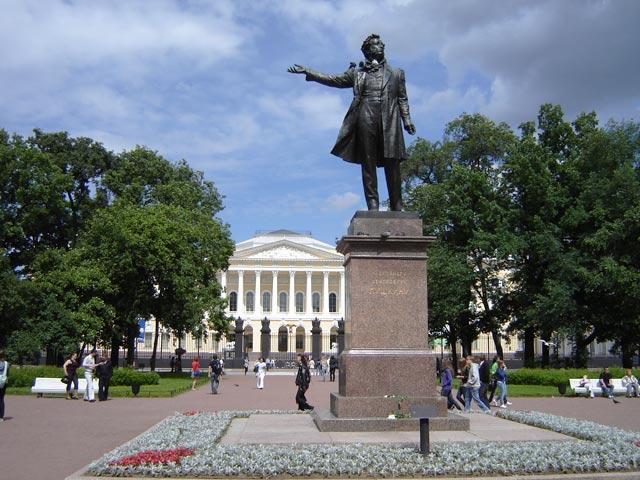Памятник пушкину а с михайловский