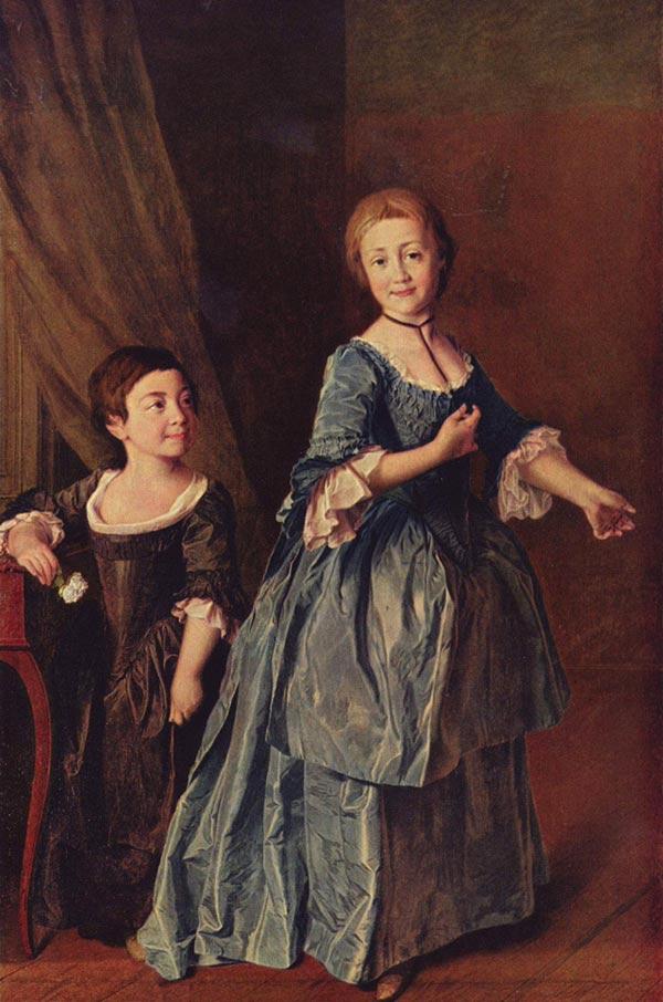 Портрет е н хрущовой и е н хованской 1773