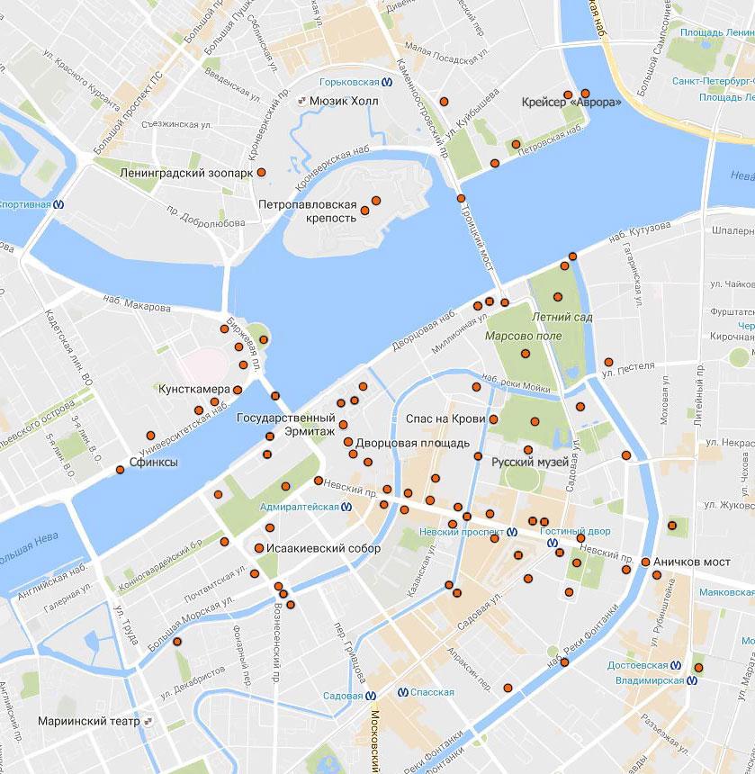 Как сделать карту санкт-петербурга 540